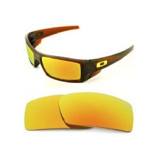 NEW POLARIZED CUSTOM FIRE RED LENS FOR OAKLEY GASCAN SUNGLASSES